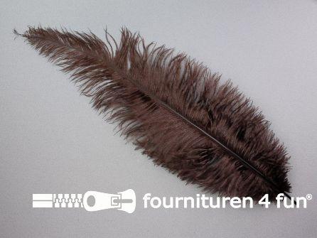 Struisvogelveer 300mm - 350mm bruin