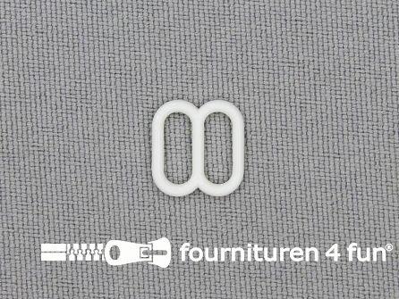 5 Stuks kunststof verstel schuifje wit 8mm