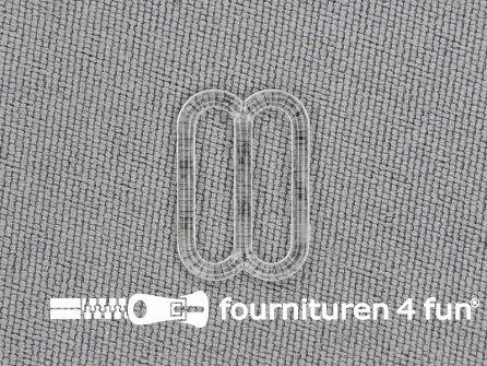 5 Stuks kunststof verstel schuifje transparant 12mm