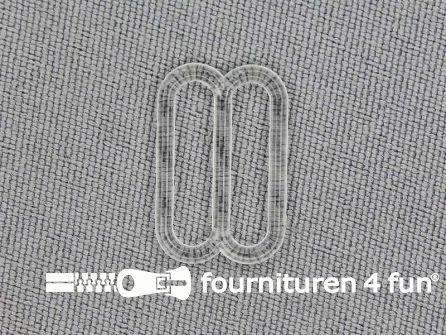 5 Stuks kunststof verstel schuifje transparant 15mm