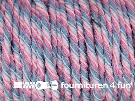 Tornado elastiek roze blauw