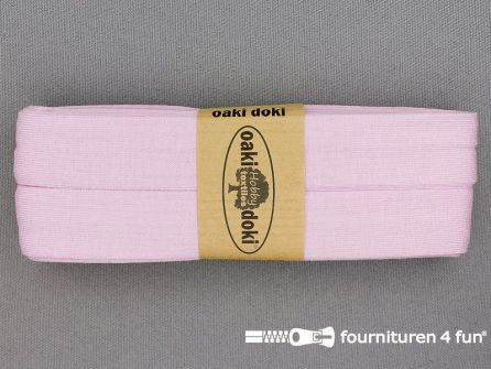 Tricot biaisband 20mm x 3 meter baby roze