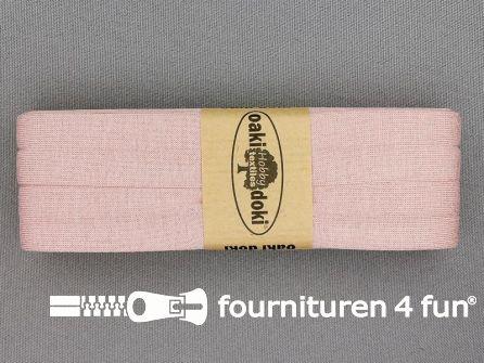 Tricot biaisband 20mm x 3 meter licht oud roze