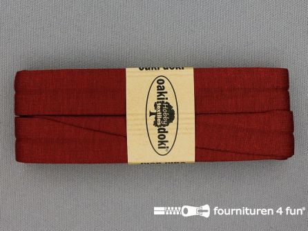 Tricot biaisband 20mm x 3 meter steen rood