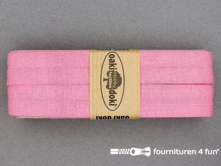 Tricot biaisband 20mm x 3 meter roze