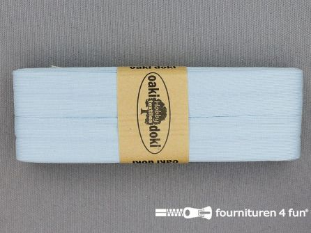 Tricot biaisband 20mm x 3 meter baby blauw