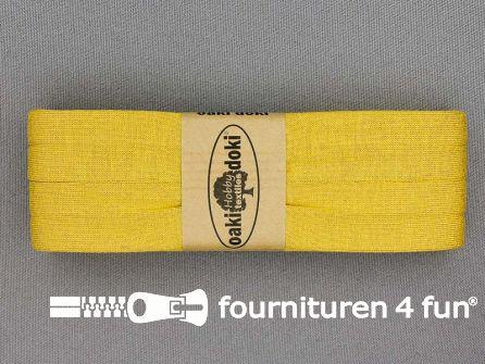 Tricot biaisband 20mm x 3 meter oker geel