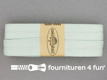 Tricot biaisband 20mm x 3 meter licht mint groen