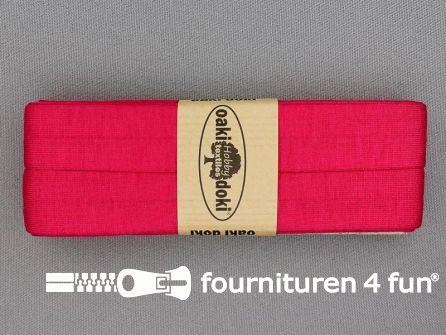 Tricot biaisband 20mm x 3 meter fuchsia roze