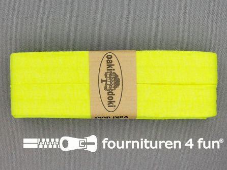 Tricot biaisband 20mm x 3 meter neon geel