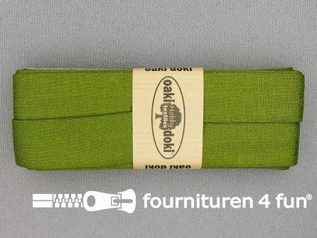 Tricot biaisband 20mm x 3 meter olijf groen