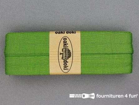 Tricot biaisband 20mm x 3 meter donker lime groen