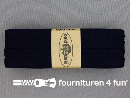 Tricot biaisband 20mm x 3 meter marine blauw