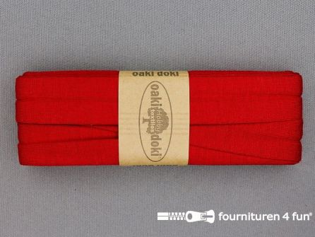 Tricot biaisband 20mm x 3 meter rood