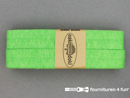 Tricot biaisband 20mm x 3 meter appeltjes groen