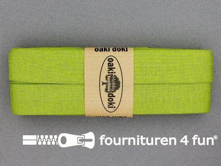 Tricot biaisband 20mm x 3 meter licht lime groen