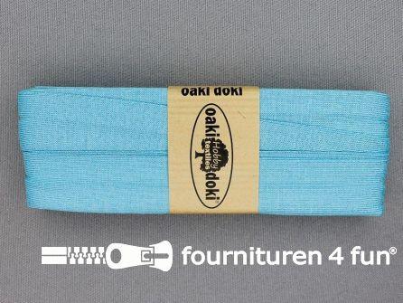 Tricot biaisband 20mm x 3 meter licht aqua blauw