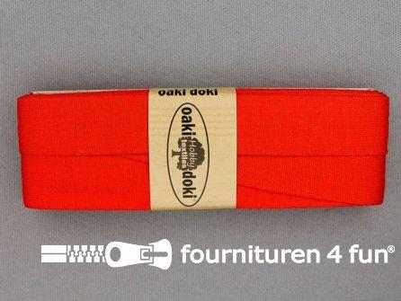 Tricot biaisband 20mm x 3 meter donker oranje