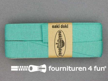 Tricot biaisband 20mm x 3 meter aqua groen-blauw