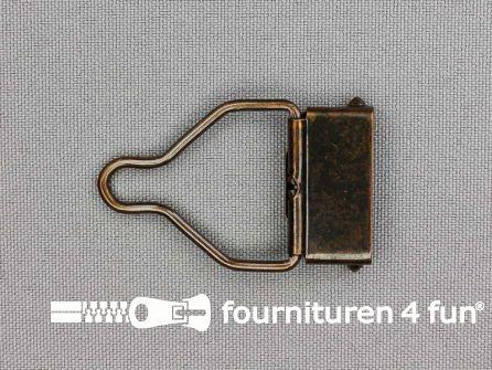 Tuinbroek gesp 25mm rood brons - per paar