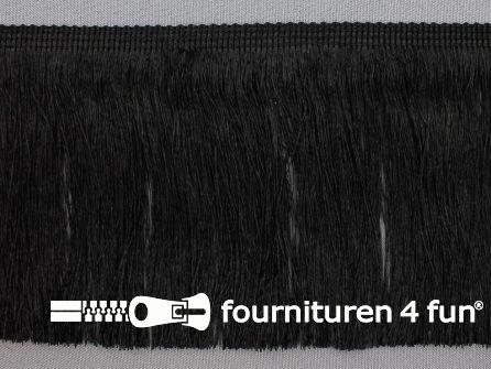 Viscose franje fijn 110mm zwart