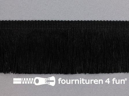 Viscose franje fijn 60mm zwart