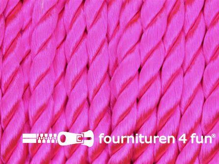 Viscose meubel koord 6mm neon roze