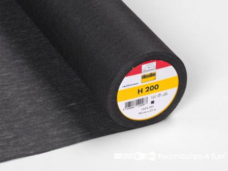 COUPON 180x90cm Vlieseline® Softline H200 zwart