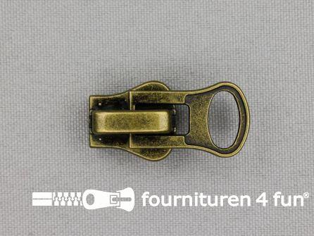 Ritsschuiver - voor zware blokjesrits - Nr.8 - brons