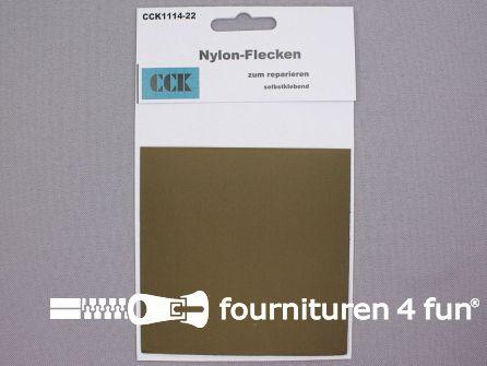 Zelfklevend nylon reparatiedoek 10x20cm olijf groen