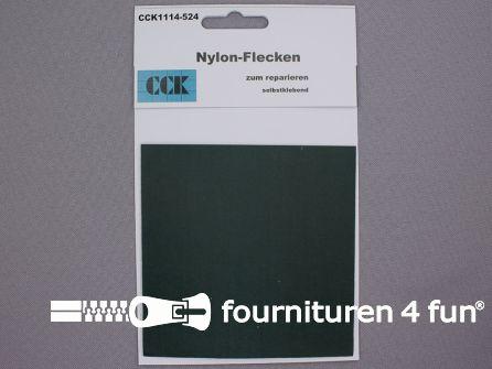 Zelfklevend nylon reparatiedoek 10x20cm donker groen
