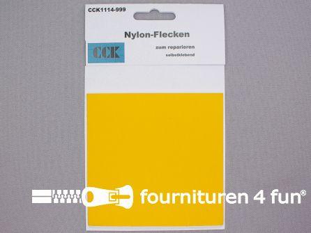 Zelfklevend nylon reparatiedoek 10x20cm geel