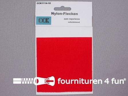 Zelfklevend nylon reparatiedoek 10x20cm rood