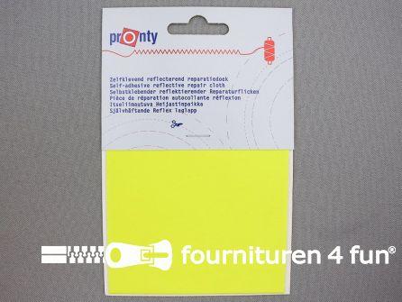 Zelfklevend reflecterend reparatiedoek 10x20cm neon geel