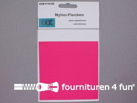 Zelfklevend nylon reparatiedoek 10x20cm fuchsia roze