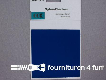 Zelfklevend nylon reparatiedoek 10x20cm konings blauw