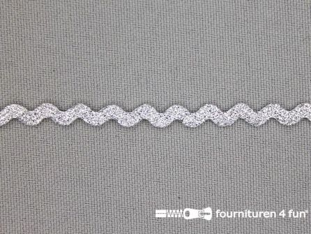 Zigzag band 5mm metallic zilver