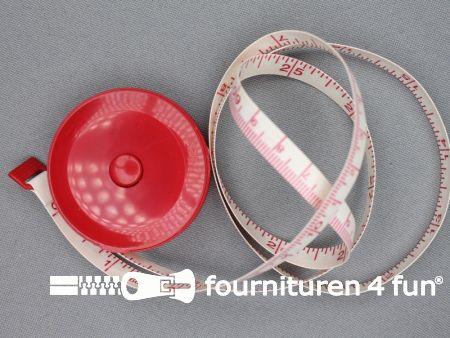 Rolmaat / rolmeter 150 centimeter - rood