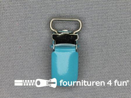 Bretelclips 10mm aqua blauw