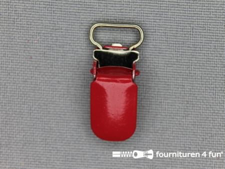 Bretelclips 10mm rood