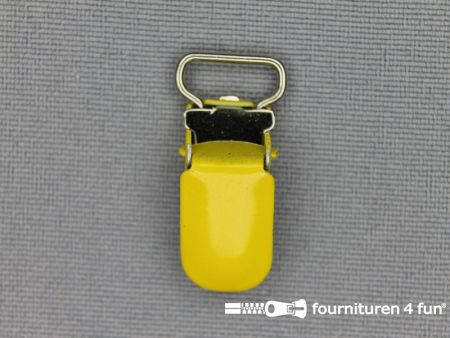 Bretelclips 10mm geel