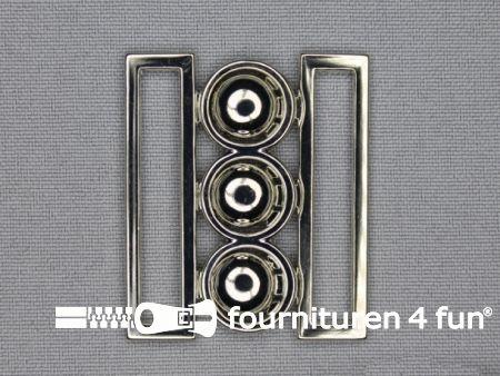Inhaakgesp 40mm zilver
