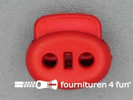 Koord stopper 18mm dubbel rood