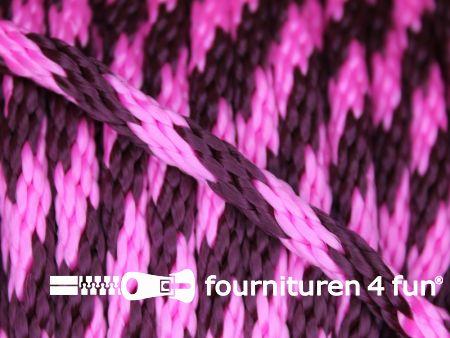 Polypropyleen touw 6mm roze - cyclaam