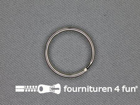 Sleutelhanger ring 16mm chroom 10 stuks