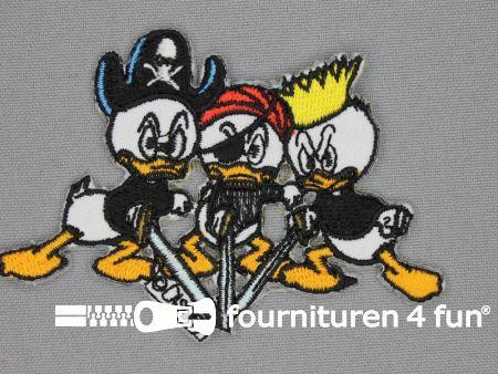 Disney applicatie 86x65mm Kwik, Kwek en Kwak - piraat