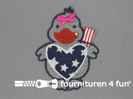 American duck applicatie 60x80mm duck