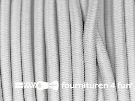 5 meter elastisch koord 3mm licht grijs