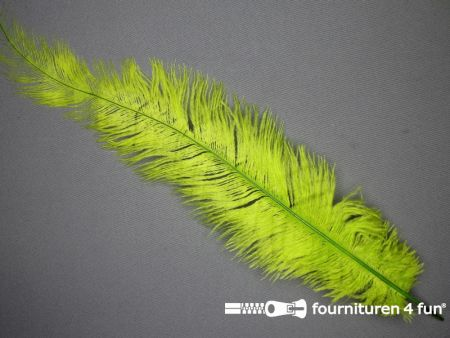 Struisvogelveer 250mm - 300mm lime groen