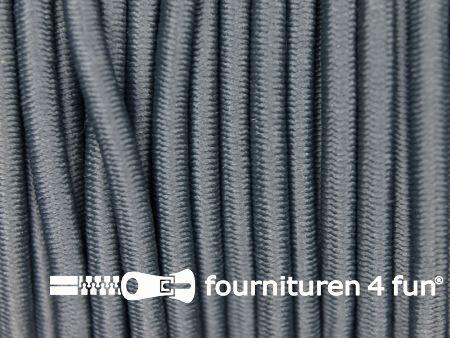 5 meter elastisch koord 3mm donker grijs